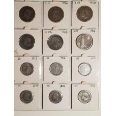 1kr og 2kr mynter.